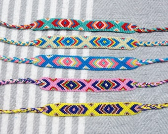 Tribal Friendship Bracelet, Woven Bracelet, Boho Friendship Bracelet, Aztec Bracelet, Hippie Friendship Bracelet