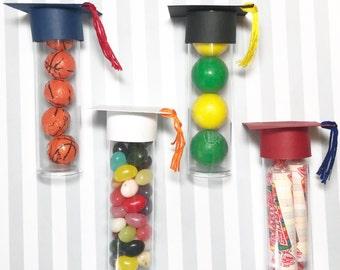 Graduation Cap Gumball Tube, set of 10, Graduation Candy Tube Party Favor - Graduation Decor - Party Favor - Graduation Party Favors - Candy