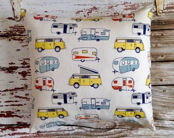 vintage camper pillow cover