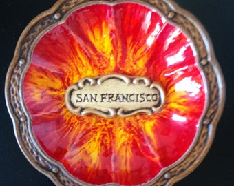Vintage San Francisco Treasure Craft Ashtray Dish
