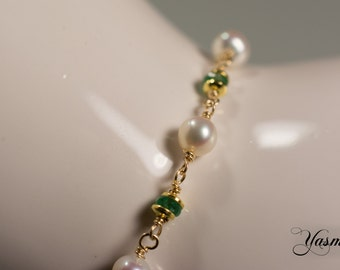Emerald and Pearl goldfilled