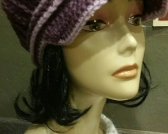 Newsboy Hat with Brim Available for Order in the Color of Your Choice
