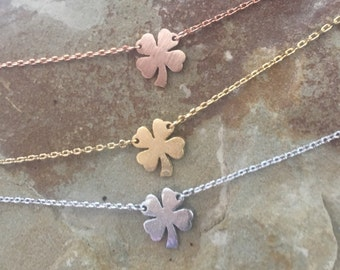 Shamrock  4 leaf clover necklace