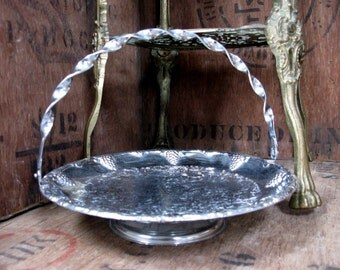 Silver Dish, Silver Tray, Silver Platter, Vintage Platter, Footed Platter, Footed Dish, Afternoon Tea, Serving Tray, Silver Server