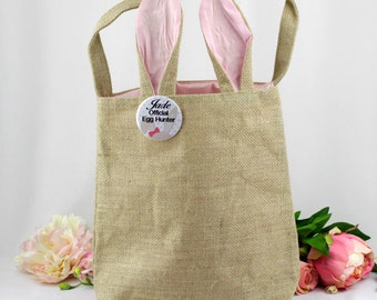 Easter Egg Hunt Bag with Personalised Badge