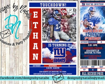 New York Giants Football Invitation