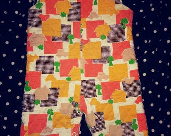 Size 12 months vintage quilted overalls