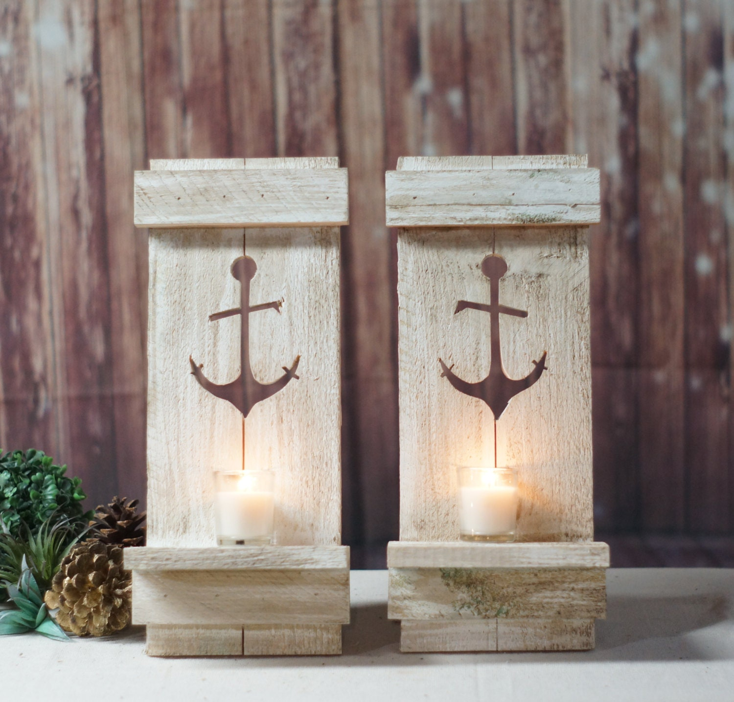 Pallet Wood Wall Sconce