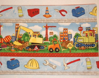 Construction Zone and Equipment - Education and Learning Placemats