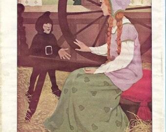 Vintage 1920s Fairy Tale Book Plate - Thumbelina