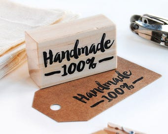 hand made stamp, handmade stamp, gift for crafters, hand made product, packaging stamp, business stamp, calligraphy stamp, hand letter stamp