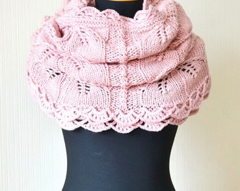 knit infinity scarf gift|for|her pink scarf knit scarf wedding scarf lace infinity scarf bridal scarf knit cowl chunky scarf womens scarves