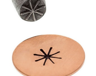 "3/4"" Geometric Star Shape Stamp for Jewelry Making Metal Stamping Marking Tool - PUN-102.21"
