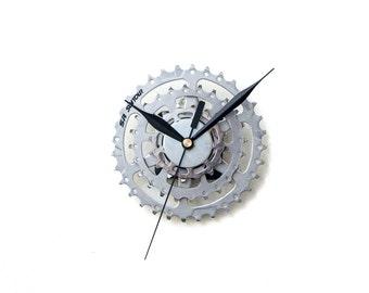 Bike Wall Clock, Cyclist Gift, Boyfriend Gift, Dad Gift, Husband Gift, Small Black Clock, Small Wall Clock, Unique Wall Clock, Metal Clock