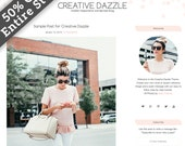 wordpress theme, wordpress template, wordpress, wordpress blog design, wordpress blog theme, responsive wordpress theme, Creative Dazzle