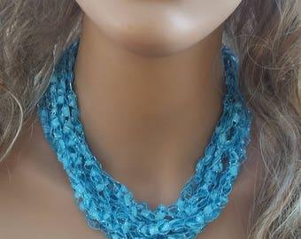 Ladder Yarn Necklace, Headband, Bracelet, Hat Accessory