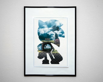 Speed Demon. Minimalist Classic Video Game Art Print.