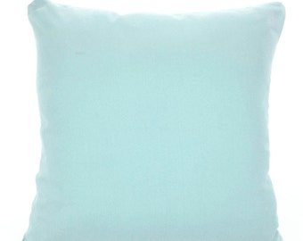 Solid Blue Decorative Throw Pillow Covers Cushion Covers Couch Pillows Village Blue Cushions, Euro Sham, Throw Pillow, One or More All Sizes