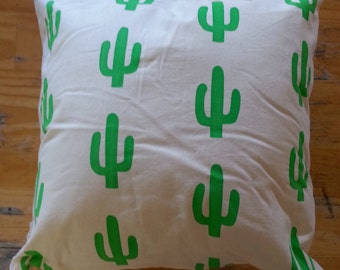 Cactus Cushion with Skull Print on Reverse
