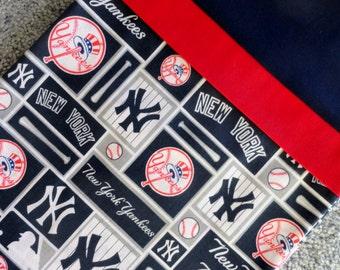 New York Yankees Pillowcase/Sham, New York Yankees Logo Pillowcase/Sham, New York Yankees Gift Bag, MLB Pillowcase/Sham, Bat, Baseball, Blue