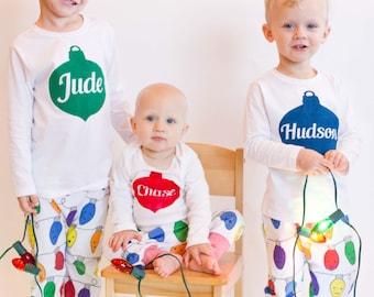 Christmas Shirt for Kids - Boys Christmas Outfit - Christmas Ornament Shirt - Christmas Photos Outfit - Hipster Christmas Shirt - Boys Gift