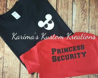 Mickey Princess Security/youth Mickey shirt/Adult Mickey shirt/Mickey vacation shirt/Mickey boy shirt/family vacation shirt