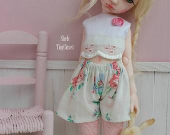 Outfit For Imda Doll 3.0 - Handmade, 2 piece set, Top & shorts. Soom, Imda outfit, YOSD, Imda bjd.