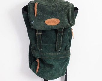 Vintage Colorado Green Suede Backpack