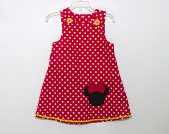 Girl Aline Minnie birthday dress Minnie girl dress Girl Aline dress name age Monogram girl Minnie dress Girl birthday Minnie Mouse dress