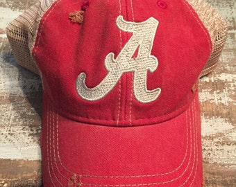 Alabama Crimson Tide, Roll Tide, Distressed Ball Cap, Vintage Style