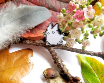 Studio Ghibli, My Neighbour Totoro, Tiny White Totoro Enamel Pin