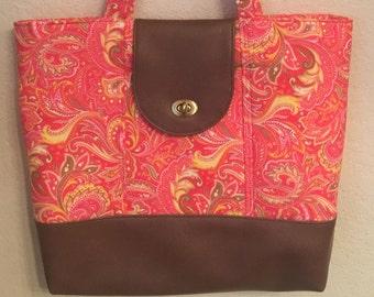 Large everyday bag, diaper bag, tote bag, travel bag, over night bag