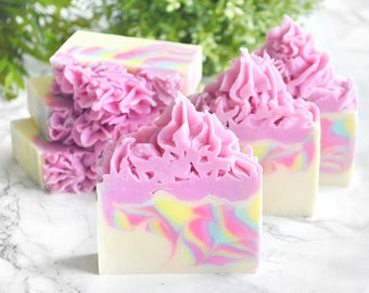 Unicorn Soap - Rainbow Soap - Unicorn Birthday Soap - Pretty Soap - Frosting Soap - Rainbow Gift - Unicorn Party Decor - Colorful Soap Favor