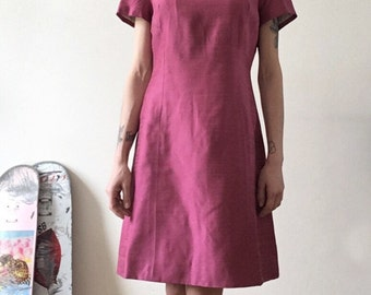 Pink Dress / Party / Tea Party / Embroidered / Tailored