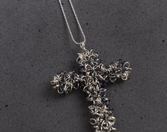 Springy Wire Cross Necklace