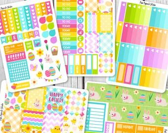50% OFF - Easter Weekly Planner Sticker Kit For Erin Condren Life Planner Vertical