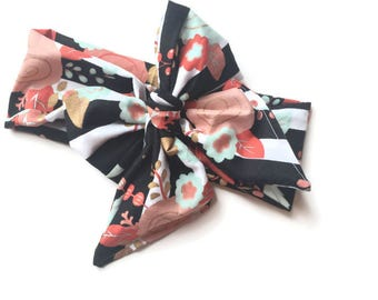 Baby Head Wrap, Infant Headwrap,  Toddler Head wrap, Toddler Head Wrap, Baby Fabric  turban, big bow, Infant-Adult