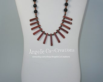 Goldstone and Onyx Necklace