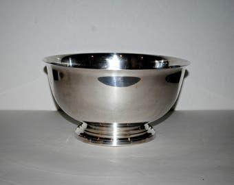 "Towle Silver Plate Bowl, Large Silver Bowl on Pedestal Base, 10"" Vintage Silver Bowl, Table Decor, Fruit Bowl"