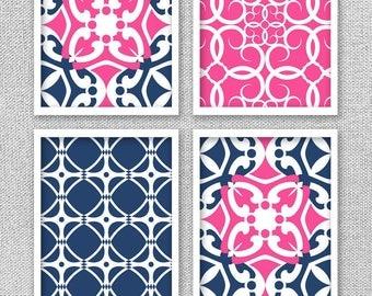 Navy Wall Decor pink wall decor | etsy
