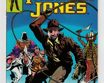 Indiana Jones #1 Comic 1983 Marvel Comic Book Further Adventures Of Movie Character Archaeologist Hero-Bullwhip and Iconic Hat-Movie Tie-In