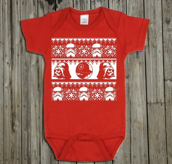 Star Wars baby onesie. Star Wars christmas sweater. Christmas