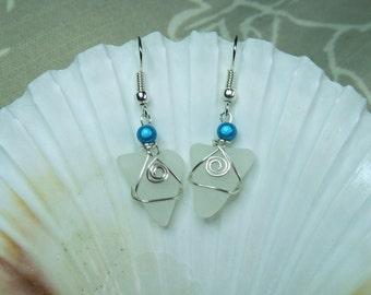 Cornish seaglass earrings