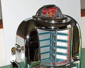 Seeburg-Jukebox-Wallbox Converted to Hook Up Jukebox Professionally Done
