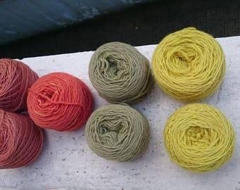 pelote de laine teinture végétale
