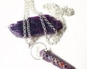 Lepidolite Necklace, Stress Relief, Healing Energy, Metaphysical, Transition Stone, Chakra Balance, Dissolves Negativity, Astral Travel