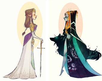 Zelda & Midna (4x6 Prints)