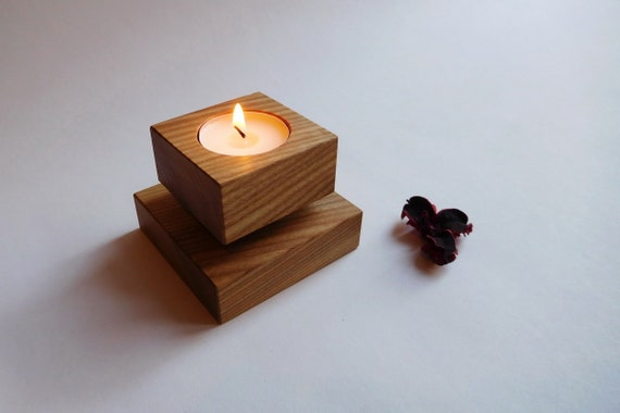 photophore bougeoir moderne bougeoir en bois centre de. Black Bedroom Furniture Sets. Home Design Ideas