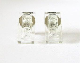 Cheap Stud Earring-Transparent Earrings-Geeky Ideas-Funny Earrings-Geek Jewelry Gift-Nerd Stud Earrings-Rectangle Earrings-Everyday Earrings