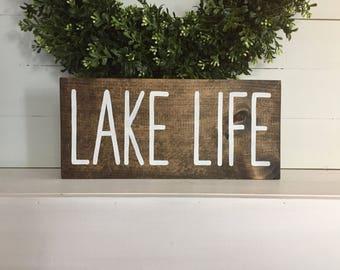 Lake Life - Lake Life Sign - Lake Sign - Lake house sign - custom lake sign - custom sign - custom wood sign - Custom wood lake sign